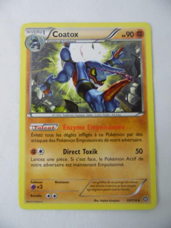 Carte Pokemon FR - Coatox - 90PV - 59/114 - Offensive Vapeur