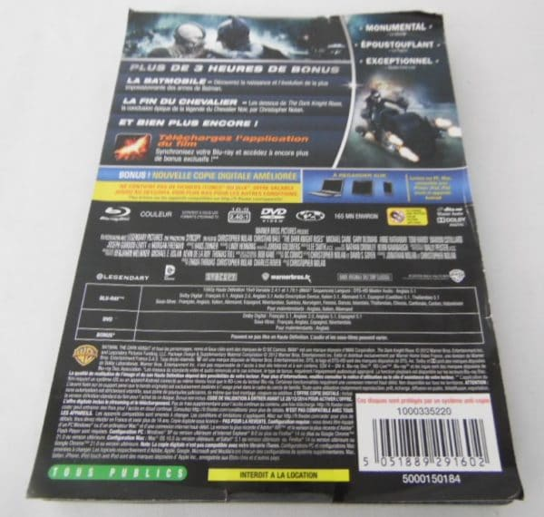 Blu-Ray - The Dark Knight Rises - Ultimate édition