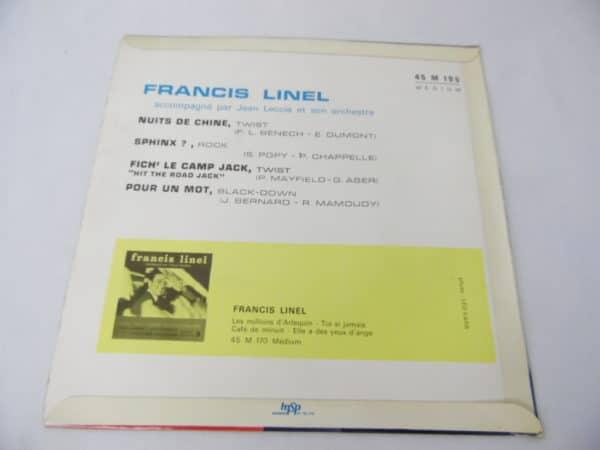 Disque vinyle - 45 T - Francis Linel - Nuits de chine