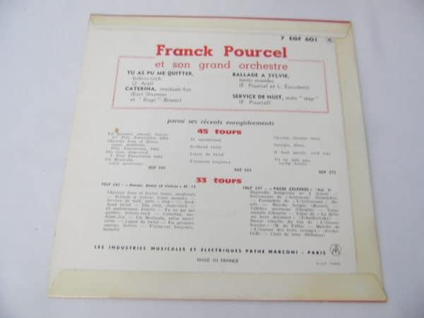 Disque vinyle - 45 T - Frank Pourcel