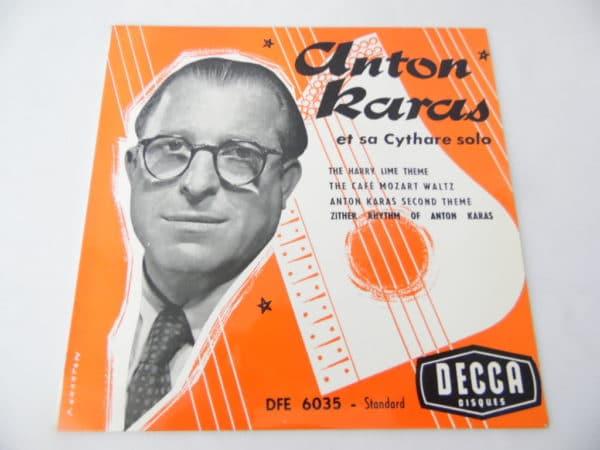 Disque vinyle - 45 T - Anton Karas
