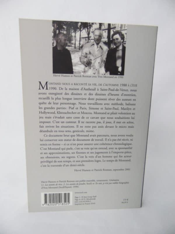 Livre Montand raconte Montand - D'Hervé Hamon et Patrick Rotman