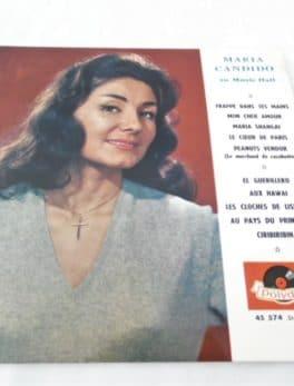 Disque vinyle - 33 T - Maria Candido au Music-Hall