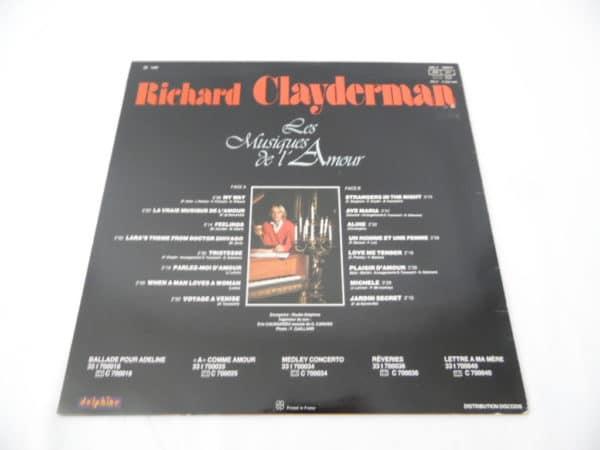 Disque vinyle - 33 T - Richard Clayderman - Les musiques de l'amour - 1980