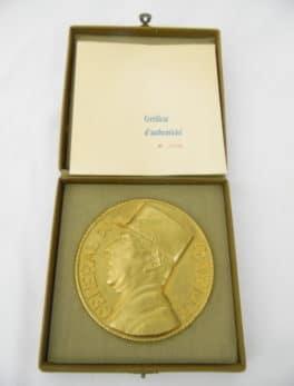 Médaille en Bronze du Général de Gaulle par Albert de Jaeger