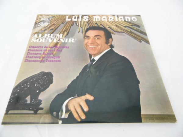 Disque vinyle - 33 T - Luis Mariano - Album souvenir - 3 disques