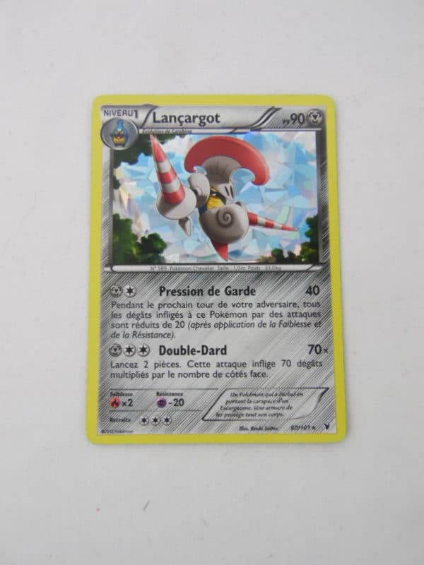 Carte Pokemon FR - Lançargot Holographique 90PV - 80/101 - Noir et Blanc