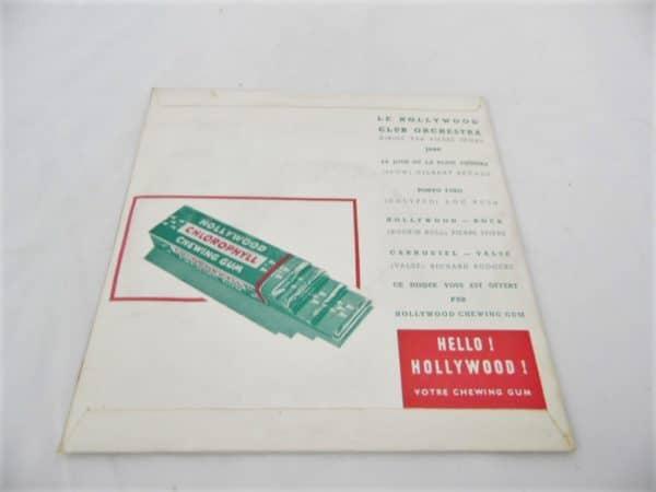 Disque vinyle - 45 T - Hollywood Party - Chewing Gum publicitaire
