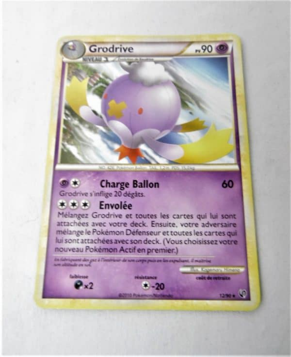 Carte Pokemon FR - Grodrive 90PV - 12/90 - HS-Indomptable