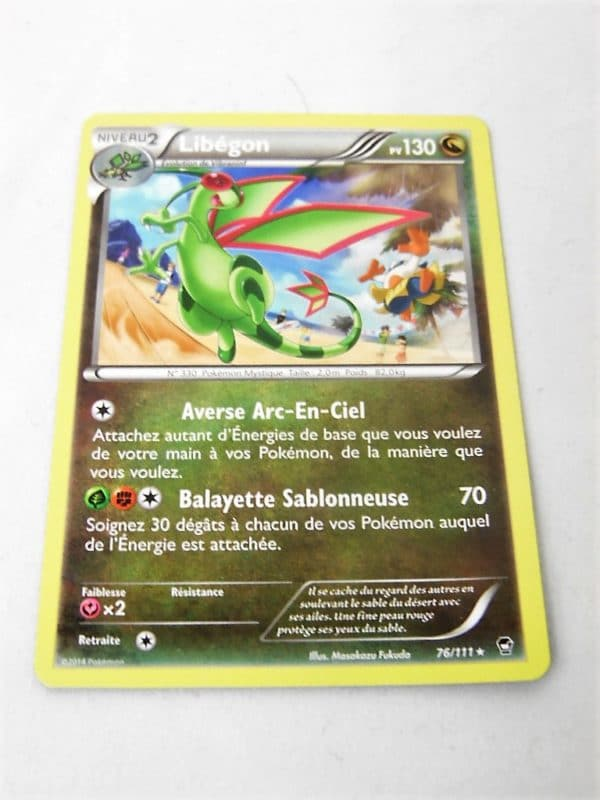 Carte Pokemon FR - Libégon 130PV - 76/111 - XY Poings Furieux