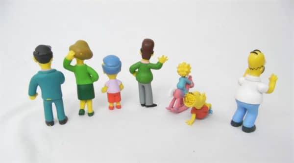 Lot de 7 figurines - Les Simpson - Année 2007