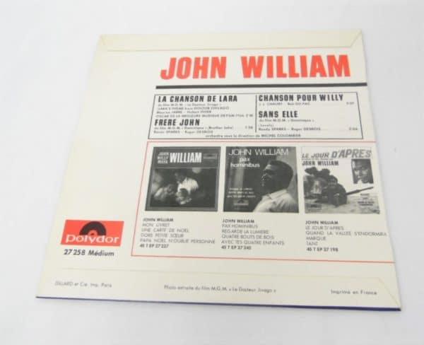 Disque vinyle - 45T - John William
