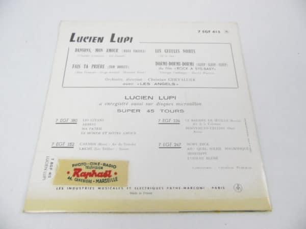Disque vinyle - 45T - Lucien Lupi - Les gueules noires