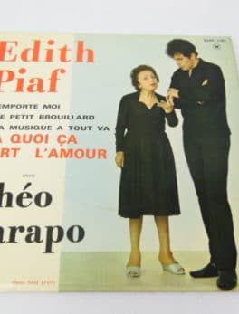 Disque Vinyle - 45 tours - Edith Piaf - Avec Théo Sarapo