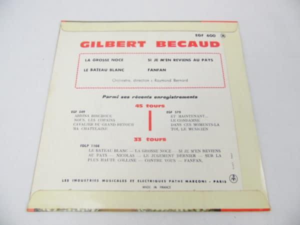 Disque vinyle - 45T - Gilbert Bécaud
