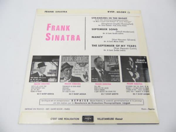 Disque vinyle - 45T - Frank Sinatra