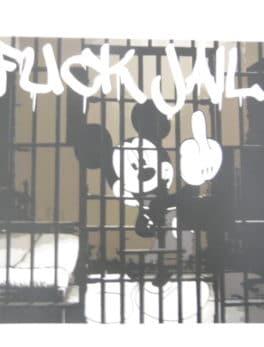 "Street pop Art - Death NYC - ""Mickey Mousse F jail"""