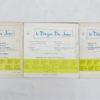 Disque vinyle - 45 T - Le disque du jour N°35, 36 et 37