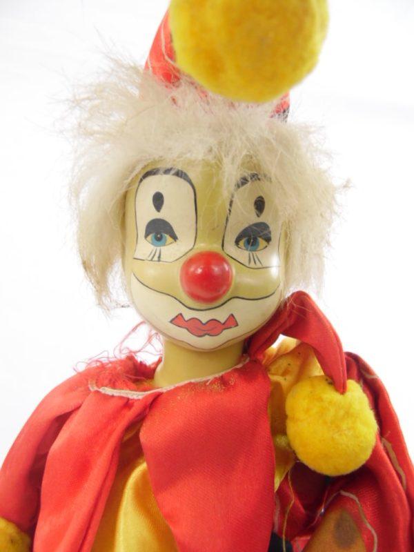 Clown automate musical en porcelaine