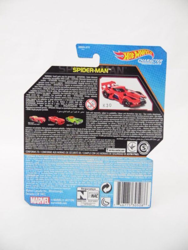 Voiture Hot Wheels - Personnage Marvel - Spider-Man Homecoming