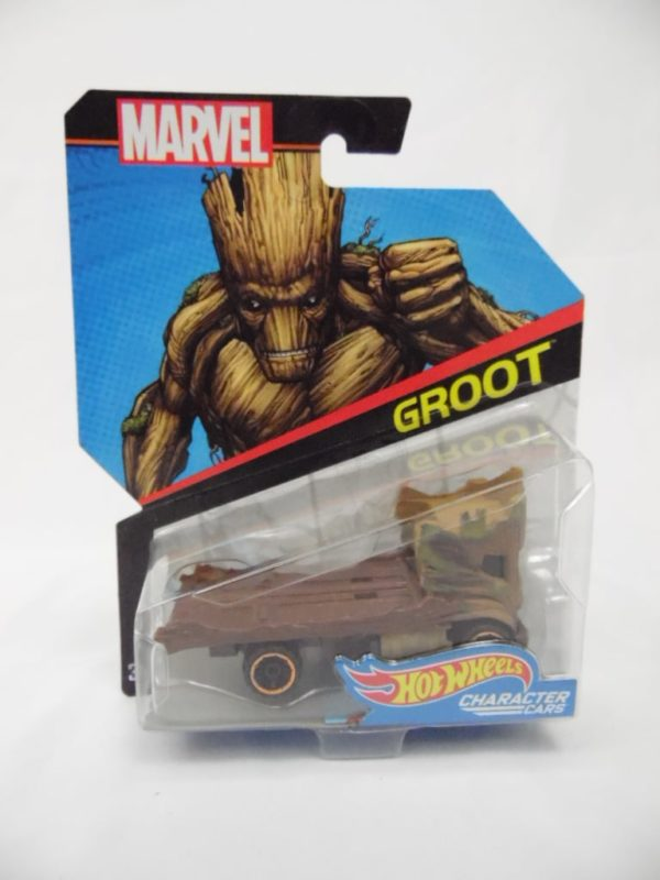 Voiture Hot Wheels - Personnage Marvel - Groot