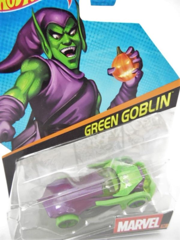 Voiture Hot Wheels - Personnage Marvel - Green Goblin