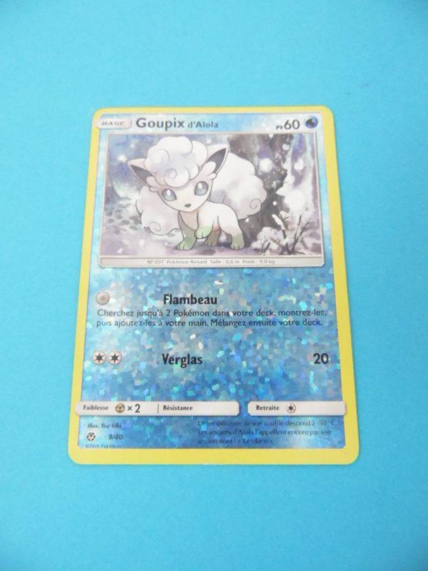 Carte Pokémon FR - Goupix d'alola 60PV - 9/40 Holo - SM Gardiens Ascendants