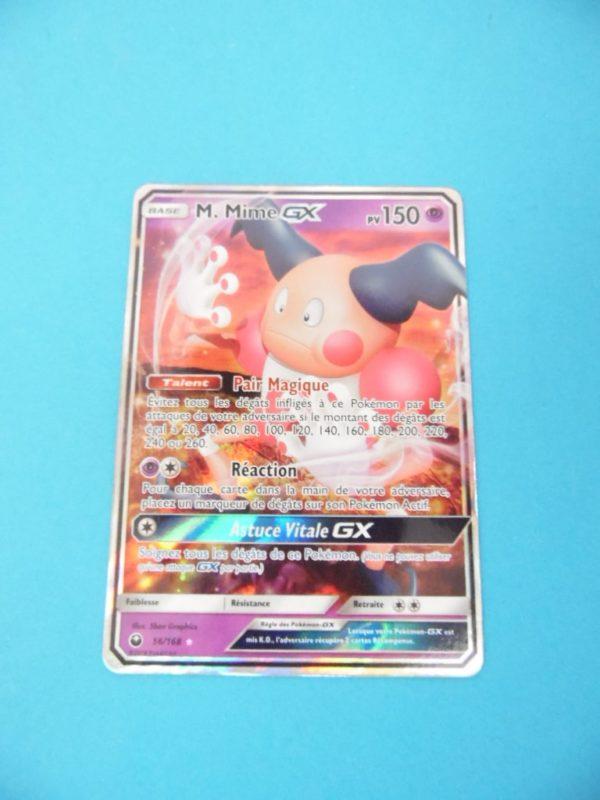 Carte Pokemon FR - M.Mime GX 150PV - 56/168 Holo