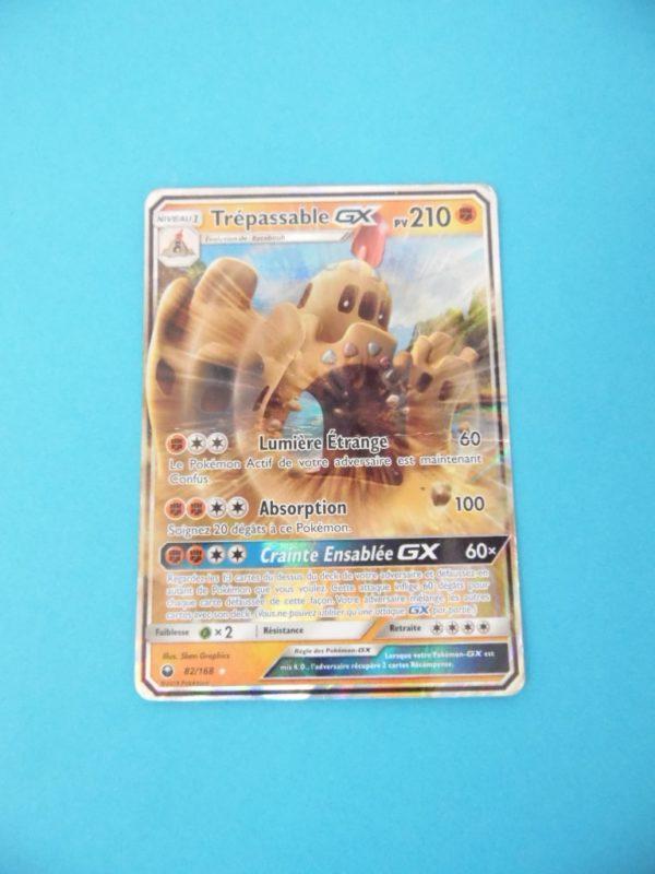 Carte Pokemon FR - Trépassable GX 150PV - 82/168 Holo Full-art - Tempête Céleste
