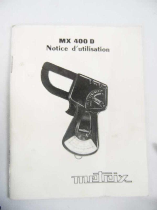 Contrôleur électro pince MX 400 D