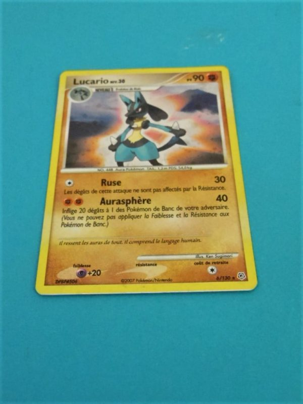 Carte Pokemon FR - Lucario 90PV - 6/130 Reverse - Diamant & Perle