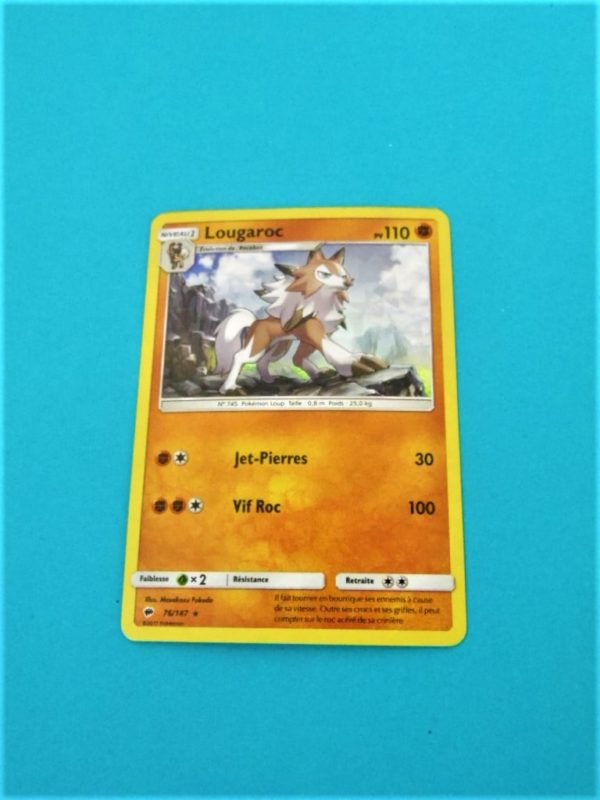 Carte Pokemon FR - Lougaroc 110PV Holo - 76/147 - Ombres Ardentes