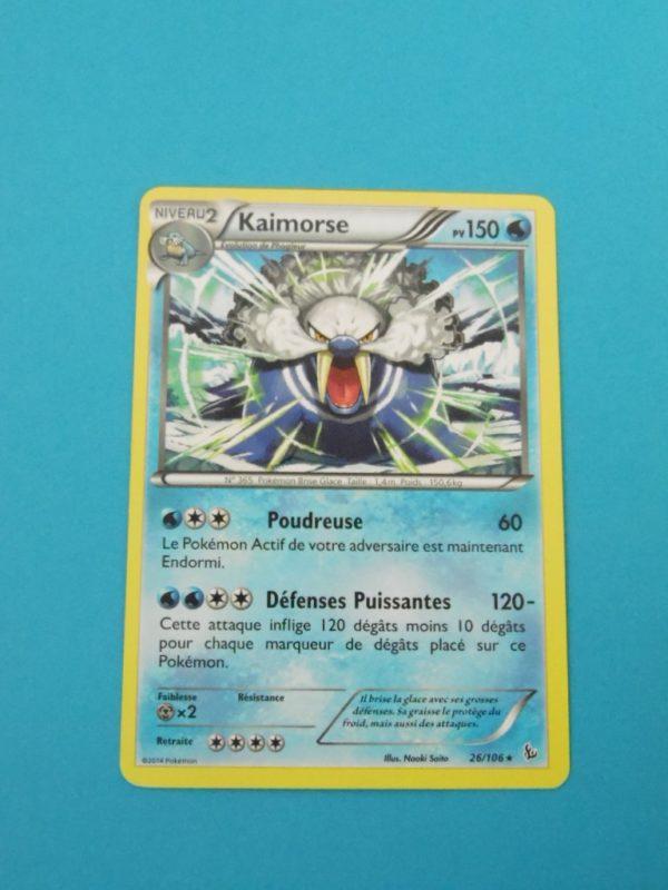 Carte Pokemon FR - Kaimorse 150PV - 26/106 - XY Étincelles