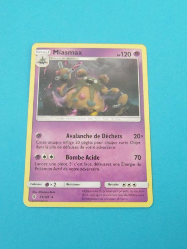 Carte Pokemon FR - Miasmax 120PV - 51/145 - SM Gardiens Ascendants