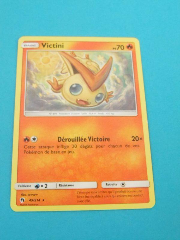 Carte Pokémon FR - Victini 70PV - 49/214 - Tonnerre Perdu