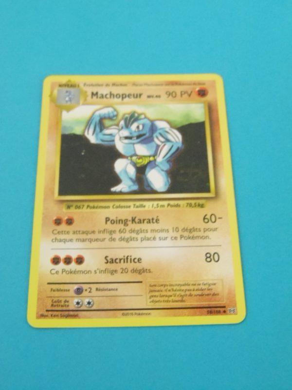 Carte Pokemon FR - Machopeur 90PV - 58/108 - XY Évolutions