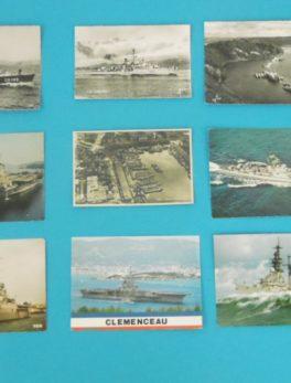 9 Cartes Postales - Thèmes bateaux Militaires
