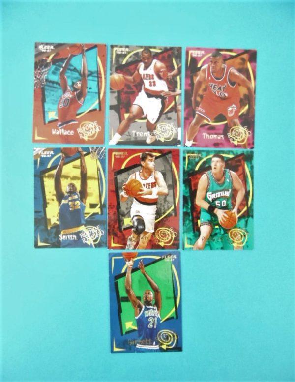 Cartes de 7 joueurs NBA - FLEER - 96/97 - Rookie Rewind