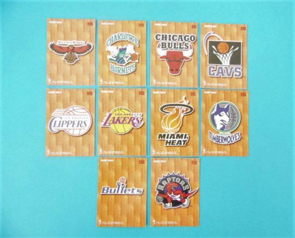 Cartes de 10 club NBA - FLEER - 95/96 - Version Européen