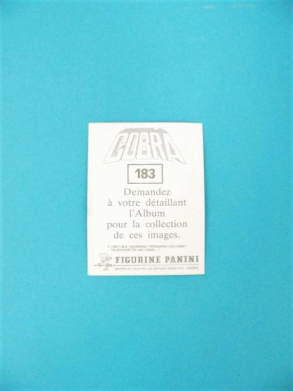 Carte Panini - Cobra - N°183