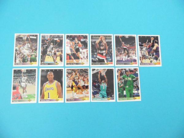 Lots de 11 cartes Upper Deck - 92/93