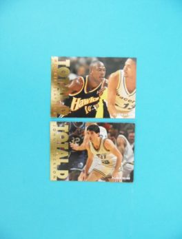 Cartes de 2 joueurs NBA - FLEER - 95/96 - TOTAL D