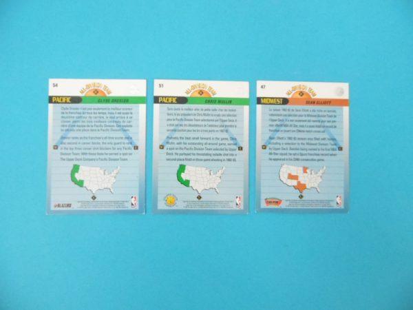 Lot de 3 cartes Upper Deck - ALL-DIVISION-TEAM