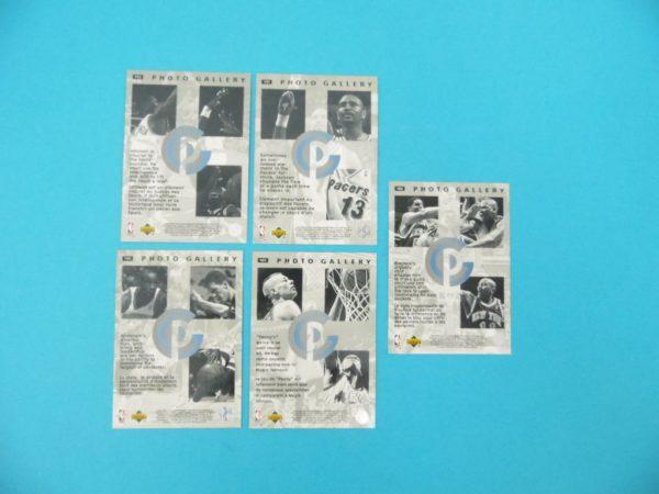 Lot de 5 cartes Upper Deck - PHOTO GALLERY