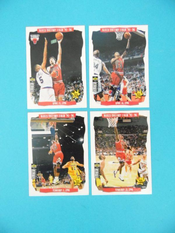 Lot de 4 cartes Upper Deck - BULLS VICTORY TOUR 95/96