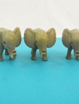Lot de 3 bébé éléphants Playmobil - Année 1980