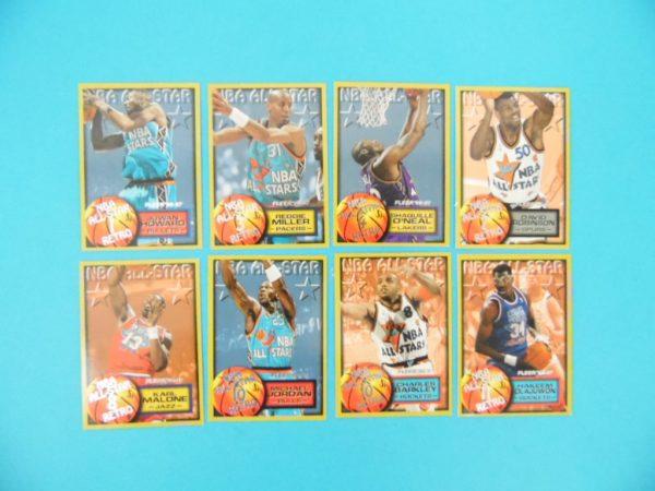 Cartes de 8 joueurs NBA - FLEER - 96/97 - NBA ALL-STAR RETRO