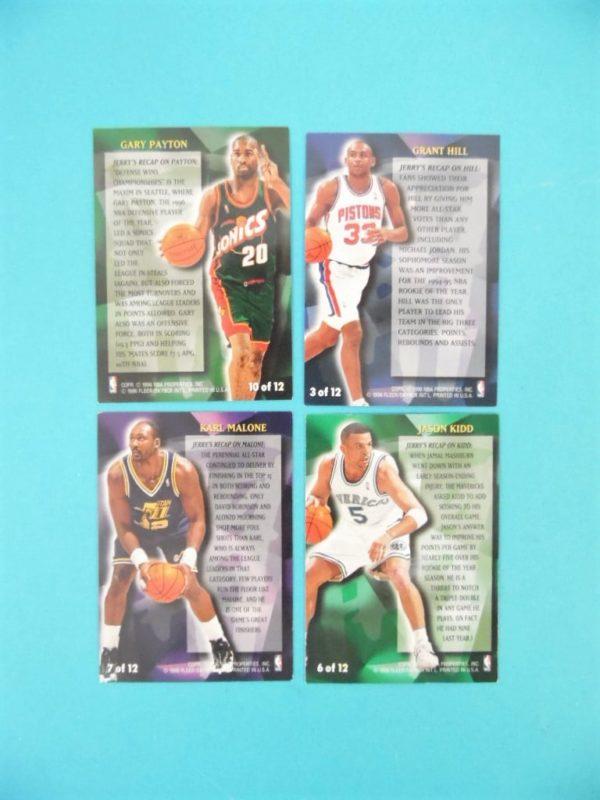 Cartes de 4 joueurs NBA - FLEER - 96/97 - Stackhouse's All-Fleer