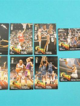 Lots de 8 cartes Upper Deck - 1995 Play Off Time