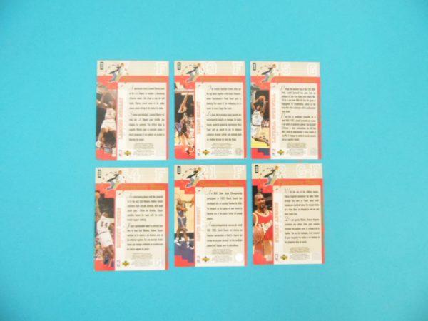 Lots de 6 cartes Upper Deck - 1995 - Professor Dunk